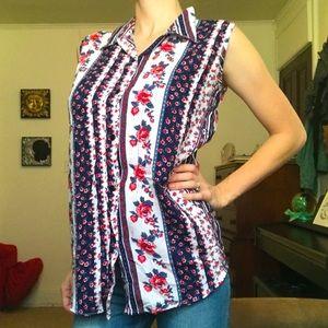 Huntington Ridge Patterned  Women's Top Shirt